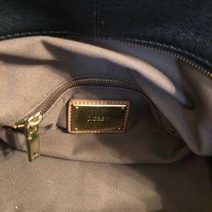 Vintage style J Crew Black Leather Handbag